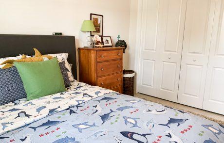 Child shark bedroom