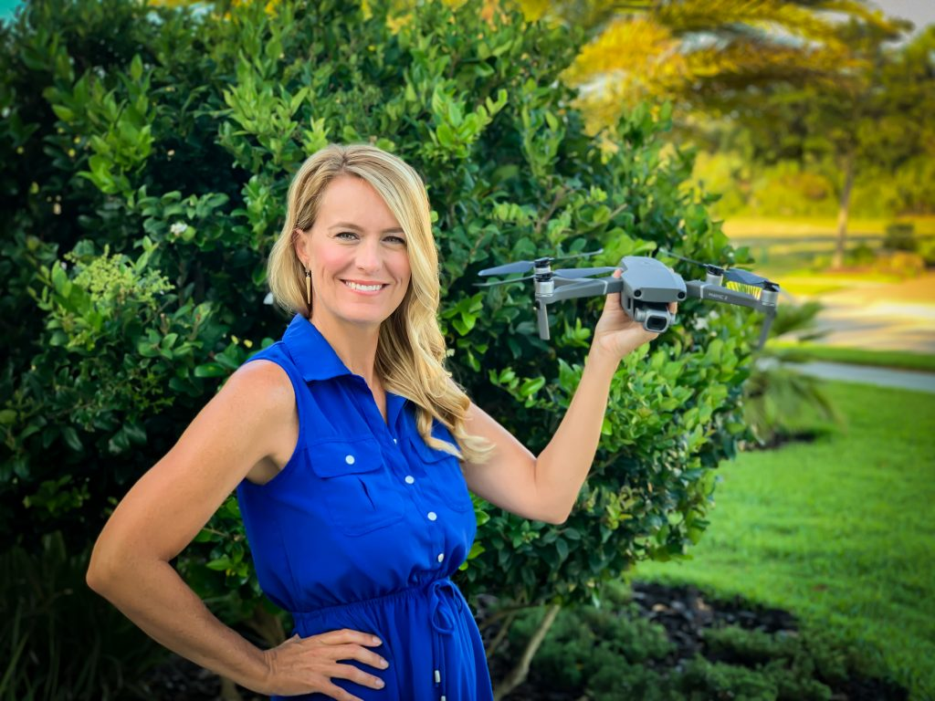 Noelle Morris with Drone