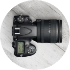 Camera badge round