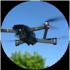 Drone badge round